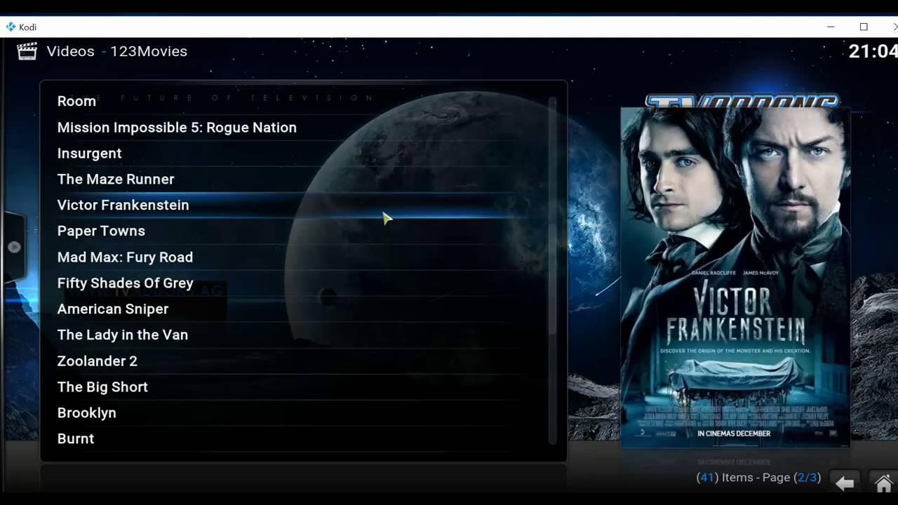 123 movies Video add ons on KODI Jarvis 16 001