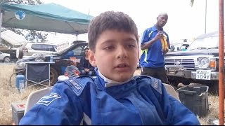 Seven year old child thrills crowd with his driving skills