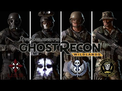 Ghost Recon Wildlands: Fictional Special Ops Uniforms: Resident Evil, TF 141, CoD Ghosts, Ghost Reco