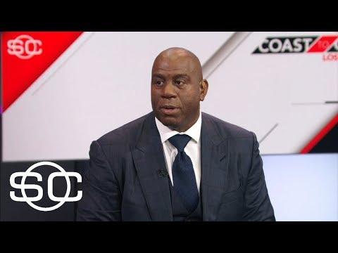 Magic Johnson addresses Lakers $500K fine for Paul George tampering | SportsCenter | ESPN