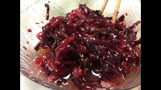 103. Салат из жаренной свеклы с луком.