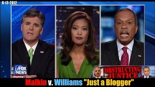 Michelle Malkin vs. Juan Williams \'Just a Blogger\'