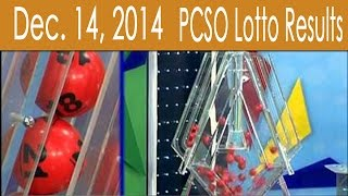 PCSO Lotto Results December 14, 2014 (6/49, Swertres & EZ2)