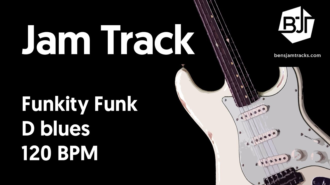 Funkity Funk Jam Track in D blues - BJT #43