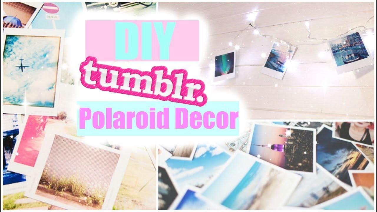 Diy Tumblr Inspired Room Decor Polaroids Youtube