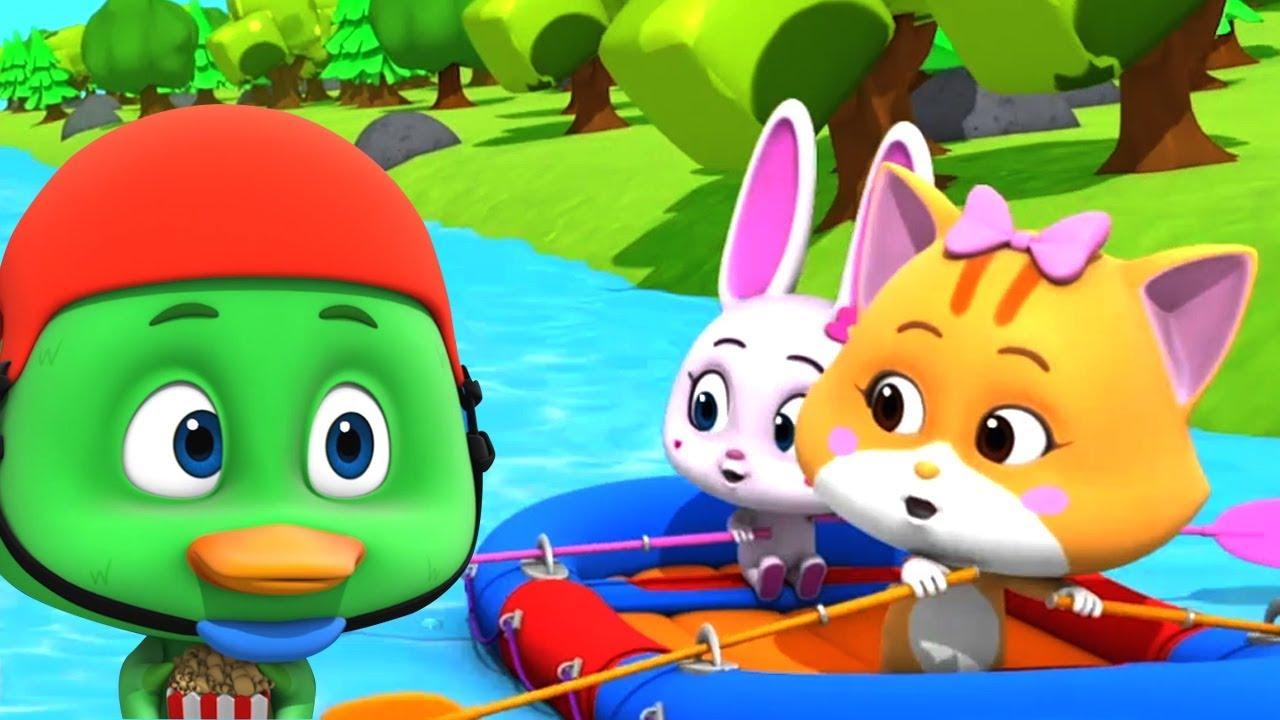 flod løb   Tegnefilm til børn   Sjov med dyr   Børneshow   sjovt for børn   Loco Nuts   River Run