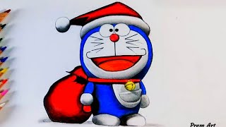How to Draw Doraemon | Easy Drawing for Children | Colour Pencil | Anime Characters