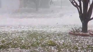 Baseball-sized hail batters Southern states