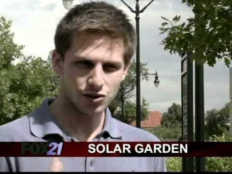 Leasing solar panels through garden