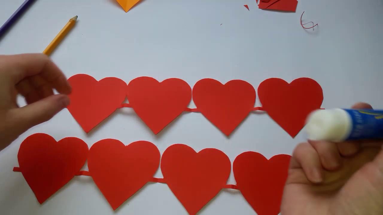 Сделать гирлянду из сердечек своими руками фото 395