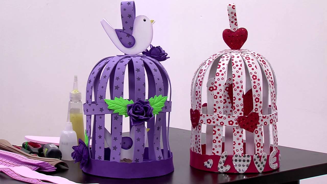 Manualidades como hacer jaulas decorativas en foamy for Cosas decorativas para el hogar
