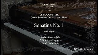 A, Diabelli: Sonatina Op. 151 No  1 in G major, for Piano (Complete)
