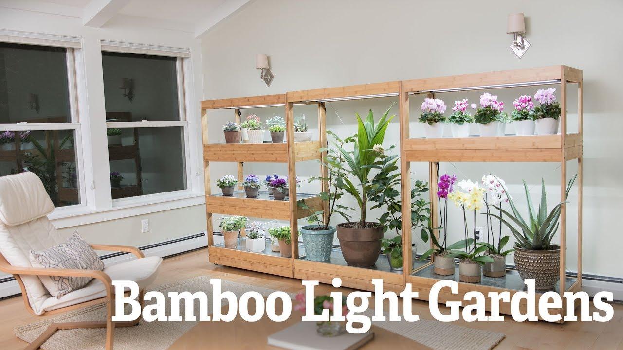 Bamboo Led Grow Light Gardens