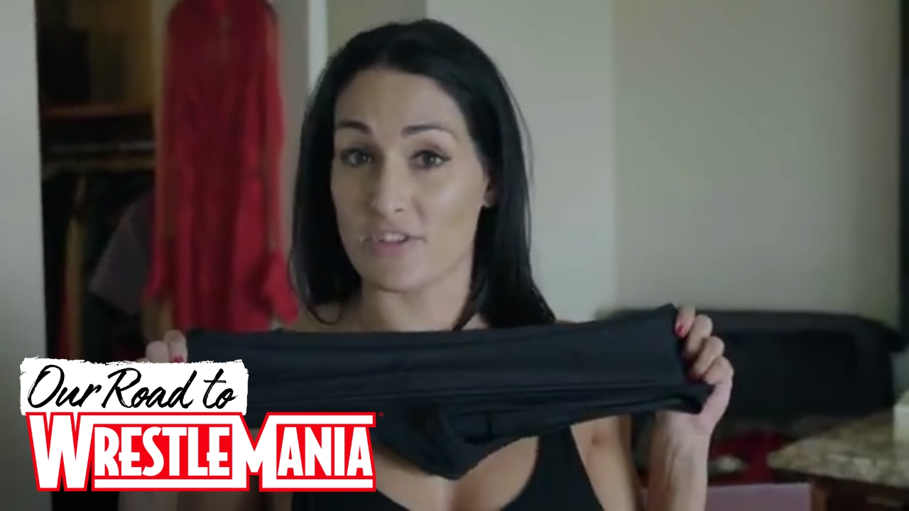 Nikki Bella Unpacks Her Mania Gear And The Booty Shorts That Were