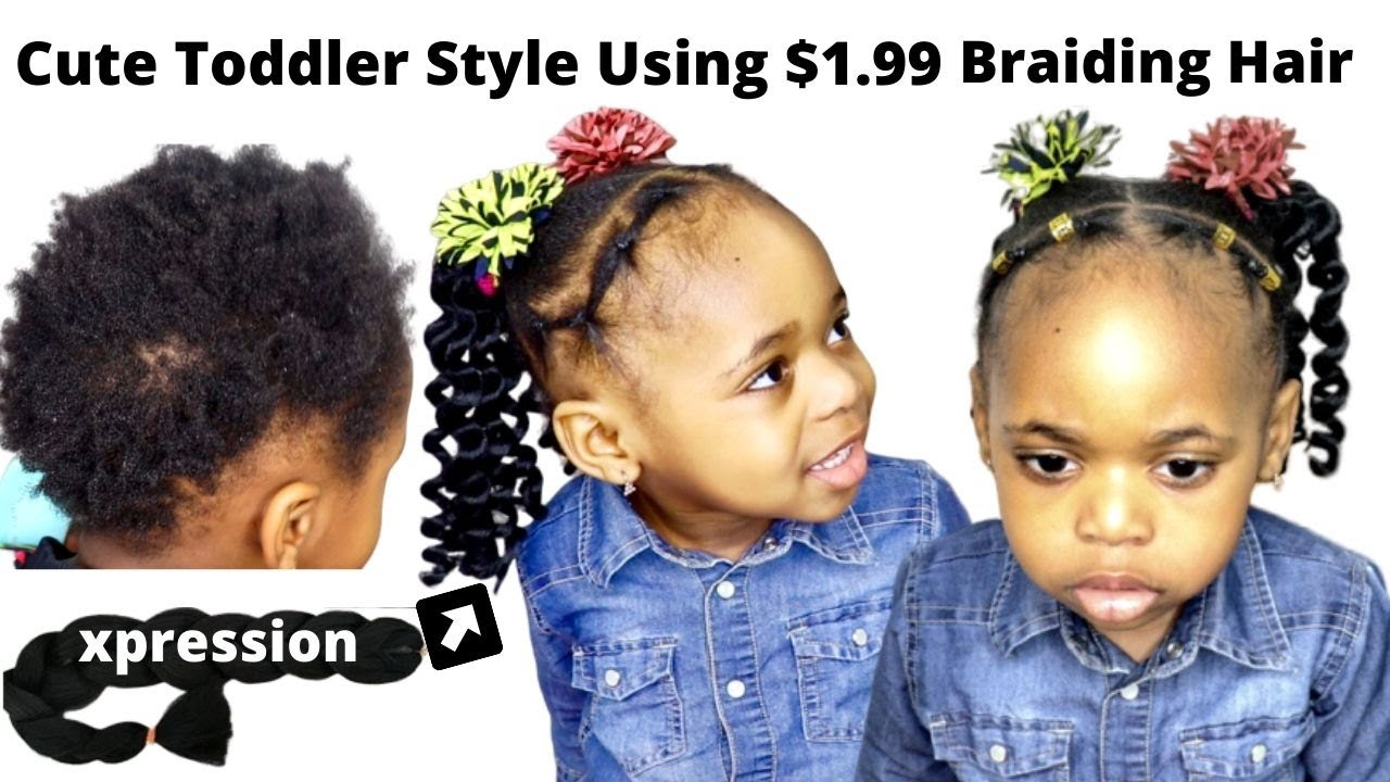 Can T Braid Or Cornrow Try This Toddler Hairstyle For Short Natural Hair Black Little Girl Kid Youtube