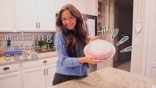 trying to make a pintęrest MINIMALIST cake