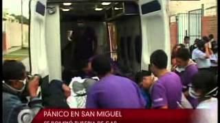 Pánico en la Clínica San Gabriel en San Miguel