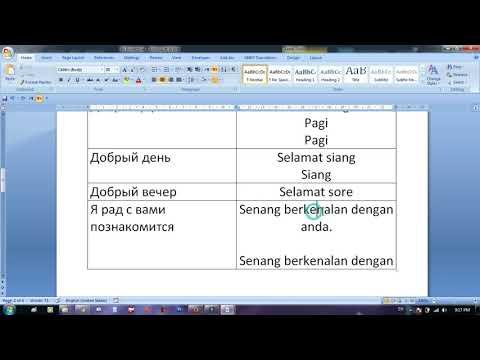 Индонезийский язык для начинающих : приветствие