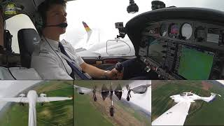 Lufthansa Group (EFA) Pilot Cadet Sebastian doing great on his first DA42 Touch & Gos!!! [AirClips]