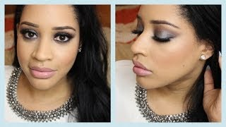 Prom Makeup Tutorial | Cool-Toned Smokey Eye [Collab with MissBarbieBaby] Thumbnail