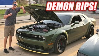 Cleetus Drives a Demon... Cleetus Approves With Large Burnout!