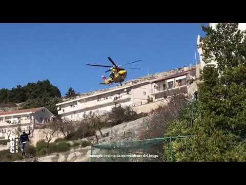 Tragedia a Monte Sant'Angelo. [VIDEO] Cade operaio da impalcatura e muore. L'elisoccorso del 118 e il disperato soccorso