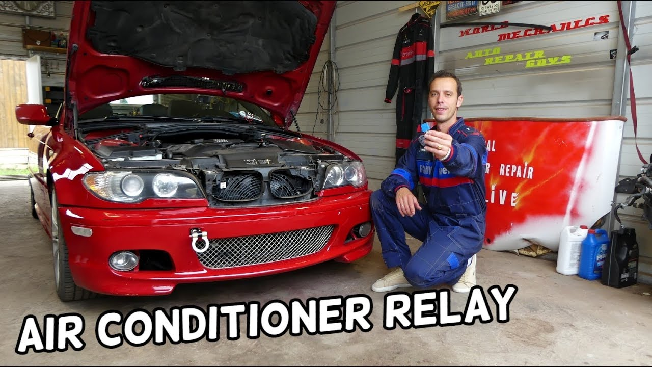 Bmw E46 Ac Compressor Relay Location Replacement Ac Blows Hot Youtube