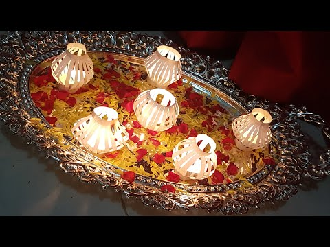 Diwali Diya paper decorations DIY