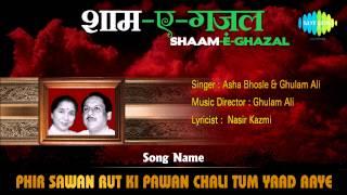 Phir Sawan Rut Ki Pawan Chali Tum Yaad Aaye | Shaam-E-Ghazal | Asha Bhosle, Ghulam Ali