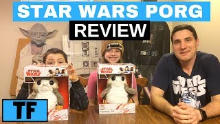 Star Wars Last Jedi Porg Toy Action Interactive Plush Movie Life-Sized Review