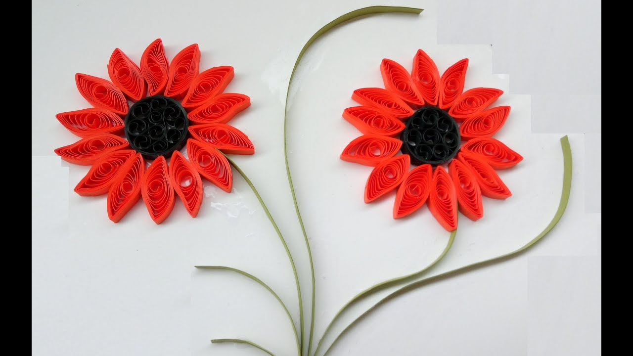 Paper quilling flowers how to make beautiful quilling orange paper quilling flowers how to make beautiful quilling orange flower design paper quilling art youtube mightylinksfo