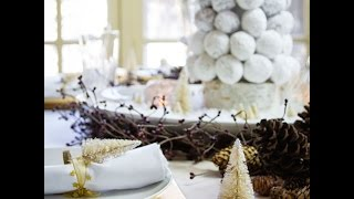 how to set a christmas brunch table and a build a donut tree