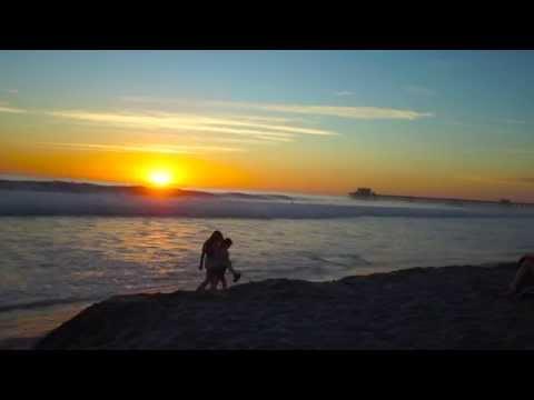 Закат солнца на побережье Тихого океана в Оушенсайде полная версия