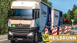 ETS 2: Durch HEILBRONN mit dem Mercedes Actros TANDEM - ultra realistisch!   EURO TRUCK SIMULATOR 2