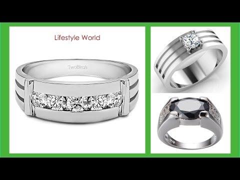 top-30-best-design-white-gold-ring-mens-tanishq- -latest-men's-engagement-rings-2018