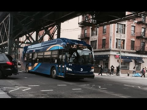 2016 New Flyer XN40 #675 on the Bx32 at Jerome Avenue and Tremont Avenue