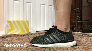 8a0505f7598 Adidas Ultra Boost 4.0 Black Iron 5th Anniversary With 3M Reflective On  Foot ...