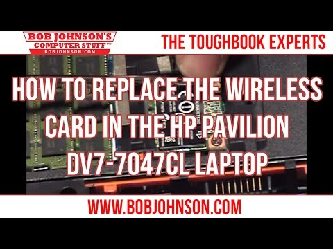 How to Replace the Wireless Card in the HP Pavilion DV7-7047cl Laptop