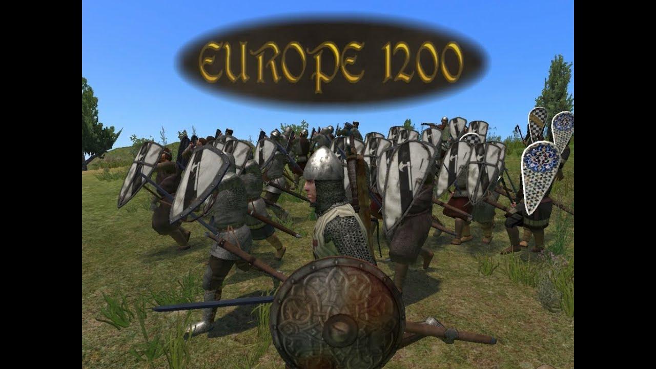 скачать мод европа 1200 на Mount And Blade Warband - фото 11