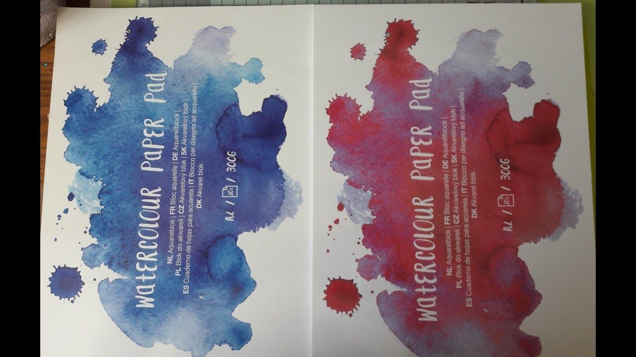 Tests Comparatifs Du Papier Aquarelle De Chez Action Bloc Bleu Et