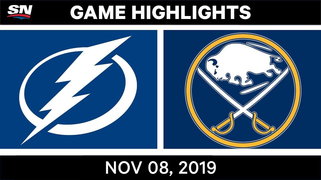 NHL Highlights | Lightning vs Sabres - Nov. 8, 2019