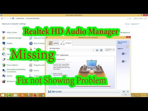 How To Fix Realtek HD Audio Manager Is Missing In Windows