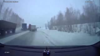 07.02.2015 Челябинская область. Фура разнесла в клочья небольшой грузовик