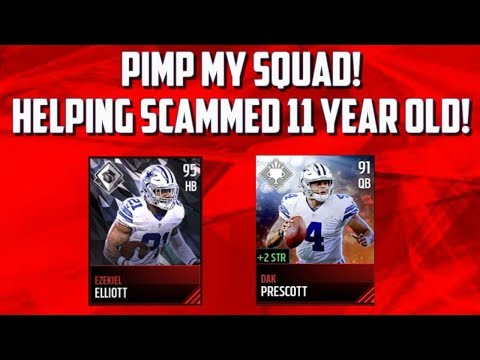 PIMP MY SQUAD FOR A SCAMMED 11 YEAR OLD? | Madden  Mobile 17 Team Builder