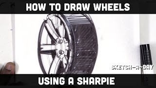 How to draw a wheel