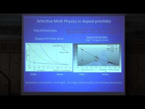 SPICE Bad Metals Workshop - Luca de Medici - orbital-selective Mott physics in Iron Superconductors