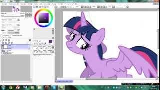 Урок первый :D │Как рисовать магию для пони в PaintTool SAI?