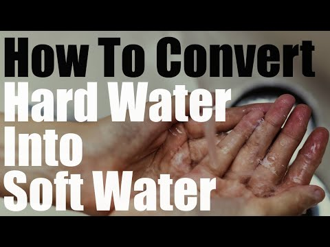How To Convert Hard Water Into Soft Water On The Cheap Without Water Softener System