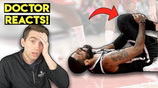 ANOTHER Injury! Doctor Reacts to Kyrie Irving KNEE INJURY