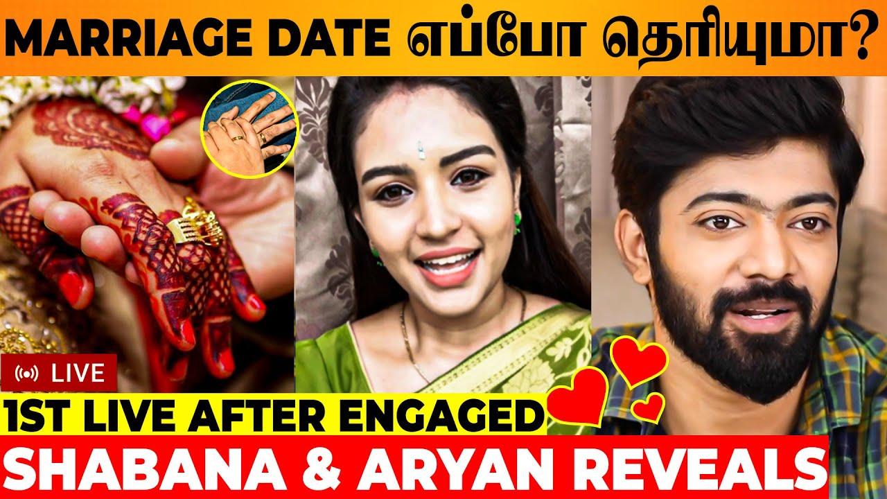 Download 🔴 LIVE : Shabana & Aryan About Wedding Date & Place ❤ - Sembaruthi & Chezhiyan Engagement | Marriage